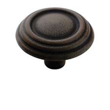 Amerock BP1307-ART Brass & Sterling Traditions Round Knob - 1 1/4