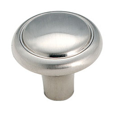 Amerock BP1308-G9 Brass & Sterling Traditions Round Knob - 1 1/8
