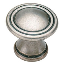 Amerock BP24009-AN Vasari Collection Round Knob - 30mm - Antique Nickel