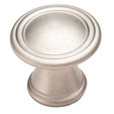 Amerock BP24009-SN Vasari Collection Round Knob - 30mm - Satin Nickel