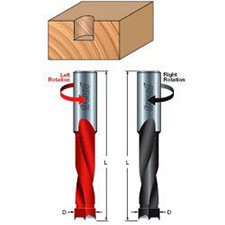 Dimar BKP-10-57LS Drill Bit - Carbide Tipped - 2 Cutting Edges - 1 Flute Body - 10mm x 57.5 - Left Rotation
