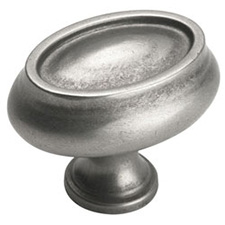 Amerock BP26127-WN Manor Collection Oval Knob - 1
