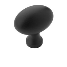 Amerock BP53014-FB Allison Value Hardware Collection Knob - 1 3/8'' - Flat Black