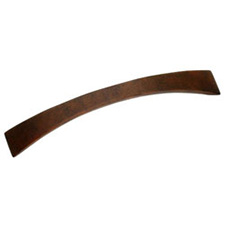 Laurey 23919 Cabinet Hardware 5-Inch Contemporary Pull, Rust