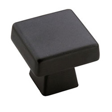 Amerock BP55271-BBR Blackrock Collection Standard Square Knob - 1 3/16