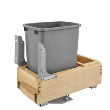 Rev-A-Shelf 4WCBM-15DM-1 Single 35 QT Rev-A-Motion Bottom Mount Pull Out Waste Container