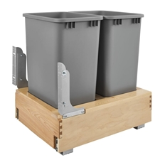 Rev-A-Shelf 4WCBM-2150DM-2 Double 50-QT Rev-A-Motion Bottom Mount Pull Out Waste Container