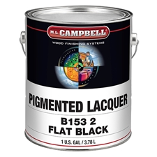 M.L. Campbell B1532.1 Black Pigmented Lacquer - Flat Finish - 1 Gallon