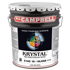 M.L. Campbell C14518.5 Krystal High-Solids Conversion Varnish - Glossy Finish - 5 Gallons