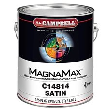 M.L. Campbell C148 14 MagnaMax Hi-Solids Water White Pre-Catalyzed Clear Lacquer - Satin Finish