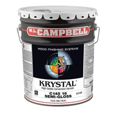 M.L. Campbell C14513.5 Krystal High-Solids Conversion Varnish - 25% Sheen Finish - 5 Gallons