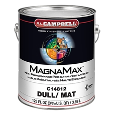 M.L. Campbell C14812.1 MagnaMax Hi-Solids Water White Pre-Catalyzed Clear Lacquer - Dull Finish