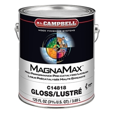 M.L. Campbell C14818.1 MagnaMax Hi-Solids Water White Pre-Catalyzed Clear Lacquer - Glossy Finish