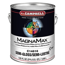 M.L. Campbell C14816.1 MagnaMax Hi-Solids Water White Pre-Catalyzed Clear Lacquer - Semi-Gloss Finish