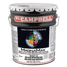 M.L. Campbell W297 16 5 MagnaMax Pre-Catalyzed Pigmented Lacquer White/Opaque Base - Semi-Gloss Finish