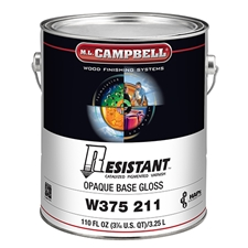 M.L. Campbell W375 211 1 Resistant Post-Catalyzed Pigmented Varnish - Opaque Gloss