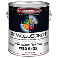 M.L. Campbell WS2S122 WoodSong II 30 Minute Dry Time 10% Spray & Wipe Stain - American Walnut