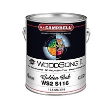 M.L. Campbell WS2S116 WoodSong II 30 Minute Dry Time 10% Spray & Wipe Stain - Golden Oak