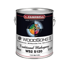 M.L. Campbell WS2S120 WoodSong II 30 Minute Dry Time 10% Spray & Wipe Stain - Traditional Mahogany