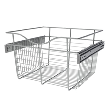 Rev A Shelf CB-181611CR-2 Closet Pullout Wire Basket 18W x 16D x 11H - ChromeRev A Shelf CB-181611CR-2 Panier Coulissant en Métal pour Placard / Garde-robe - 18W x 16D x 11H - Chrome