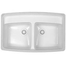 Fulton Acrylic Bisque Double Sink
