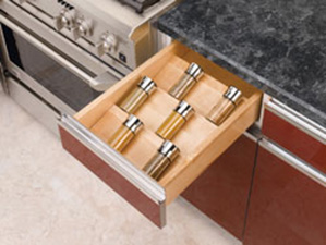 Rev A Shelf 4SDI-24 Cut-To-Size Insert Wood Spice Organizer for Drawers