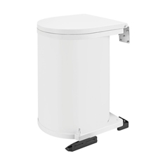 Rev-A-Shelf 8-010412-15 Round 15-Liter Pivot-Out Waste Bin