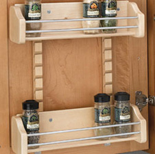 Rev A Shelf 4ASR-31STD-20 Adjustable Door Mount Spice Rack Standard