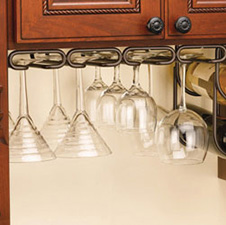 Rev-A-Shelf 3450-11SN Quad Stemware Holder - 11-Inch - Satin NickelRev A Shelf 3450-11SN Support à Coupes Quadruple - 11