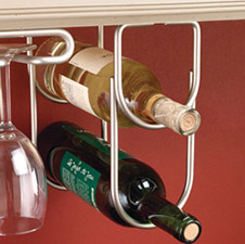 Rev-A-Shelf 3250ORB Double Wine Bottle Rack for Under Cabinets - Oil Rubbed Bronze