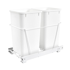 Rev-A-Shelf RV-15PB-2 S Double 27-QT Double Bottom Mount White Wire Waste Containers