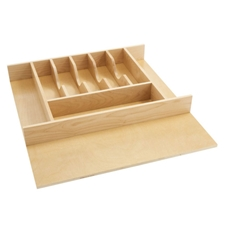 Rev A Shelf 4WCT-3 Large Cut to Size Wood Cutlery Organizer
