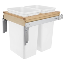 Rev-A-Shelf 5349-2150DM-2 Double 50-QT Top Mount Pull Out Waste ContainerRev-A-Shelf 5349-2150DM-2 Poubelle Coulissante Double à Montage par le Haut - 2 x 47L