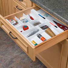 Rev A Shelf GUT-10W-52 Cut-To-Size Insert Utensil Organizer for Drawers - 8 5/8