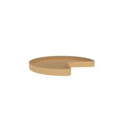 Rev A Shelf 4WLS401-32-BS52 Kidney Shaped Wood Single Shelf Lazy Susan (w/Bearing and Stop)