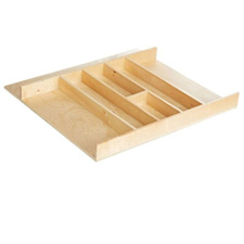 Rev A Shelf 4WUT-3SH Cut-To-Size Insert Wood Utensil Organizer