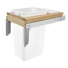 Rev-A-Shelf 4WCTM-1850DM-1 Single 50-Quart Pull Out Waste Container with Storage bin