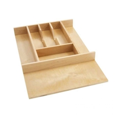 Rev A Shelf 4WCT-1SH Small Cut to Size Wood Cutlery Organizer