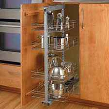 Rev A Shelf 5243-20 Pullout Wire Tall Pantry with 4 Baskets