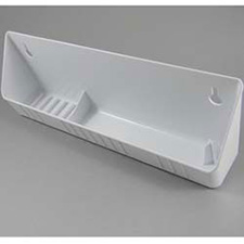 Rev A Shelf 6591-11-11-4 Accessory Tip Out Tray With Soap & Ring Holder - White - 40 Bulk