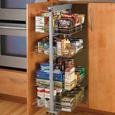 Rev A Shelf 5243-20N-CR Pullout Wire Tall Pantry with 4 Baskets - Chrome