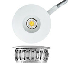 Tresco L-LED-1EB-WWH-1 1W Pockit Point LED Mini Spot 3000K White