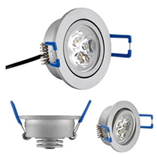 Tresco LLED-3DSP-CNI10 3W Recessed Pockit Swivel Spot 3000K Satin Nickel