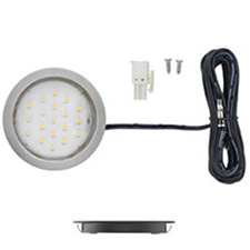 1.5W 3K NICKEL LED METAL POCKIT LHTTresco LPC1LEDSFRWNI10 Éclairage DEL en Rondelle Pockit Plus - 1.5W - 12V - 3000K - Nickel