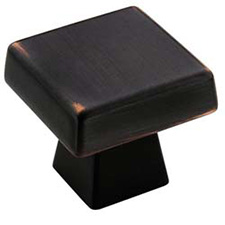 Amerock BP55273-ORB Blackrock Collection Oversized Square Knob - 1 1/2