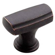 Amerock BP55311-DOB Highland Ridge Collection Rectangular Knob - 35mm - Dark Oiled Bronze