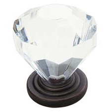 Amerock BP14303-ORB Traditional Classics Acrylic Knob with Base - 1 1/4