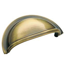 Amerock BP4235-AE Solid Brass Cup Pull - 3