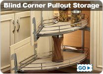 Blind Corner Pullout Kitchen Storeage