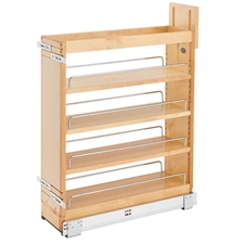 Rev-A-Shelf 448-BCSC-6C 6.5 Inch Base Organizer with Blum Soft-Close Slides for face frame Full Height Base Cabinet